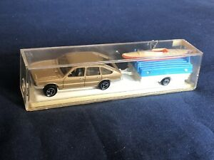 VTG Majorette Rem.Camping 372 Citroen CX Trailer & Kayak - Made In France
