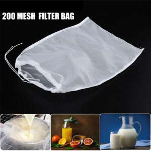 Cooking Wine Strainer Coffee Filter Cheese cloth Nut Milk Bag Nylon Fine Mesh