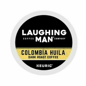 Laughing Man Colombia Huila Coffee,Single-Serve K-Cups for Keurig Brewers 100 co