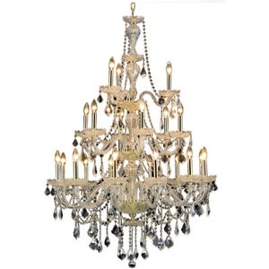CRYSTAL CHANDELIER LARGE ENTRYWAY FOYER DINING ROOM CEILING FIXTURE 21 LIGHT 53
