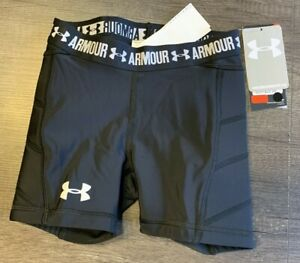 Under Armour Girl's Padded Softball Slider Shorts Black Size Youth XS $18.99