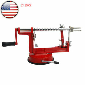 Red Apple Peeler Pear Fruit Slicer Cutter Corer Stainless Kitchen 3 in 1 Machine