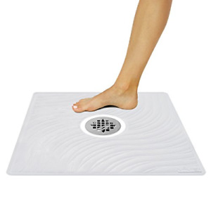 Vive Shower Mat - Non Slip Large Square Bath Mat for Bathtub - Suction Cup Skid