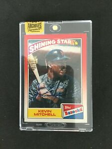 Kevin Mitchell AUTO 2016 Topps Archives Signature 35 Bozooka Shining Star