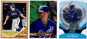 WIL MYERS 2011 TOPPS HERITAGE BOWMANS BEST 2013 BOWMAN CHROME DIE CUT 3 LOT RC
