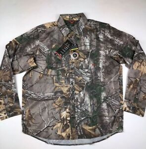 Under Armour Real Tree Camo Hunting Long Sleeve Heatgear Shirt Size Large $80 $9.05