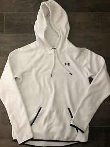 Women's UNDER ARMOUR Storm Cold Gear White Pullover Hoodie Jacket Pocket Sz M $7.00