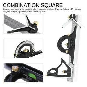 12quot; Combination Tri Square Ruler Steel Machinist Measuring Angle Tool Rule $14.14