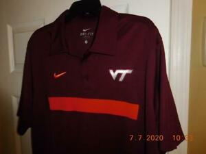 $54 NIKE DRI FIT Virginia Tech VT Hokies Polo Golf Shirt Men's Size L MUST SEE! $17.49