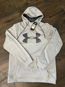 Under Armour Men's Armour Fleece Pullover Hoodie Big Logo Graphic Mod SMALL $35.99