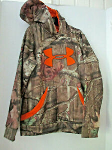 UNDER ARMOUR Camo Camoflauge HOODIE Youth Small $16.50