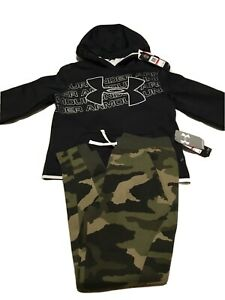 New Under Armour Youth XS 6 6x Boys Hoodie & Camo Pants Lot YXS Cold Gear $79.99