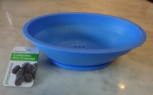 Collapsible 3.5 cup Colander w/ Snap-on Base, BLUE, Prepworks by Progression