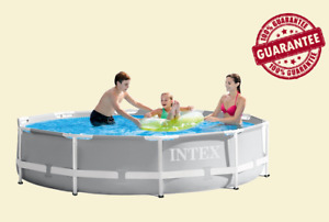 """🌊Intex 10'x 30"""" Prism Metal Frame Above Ground Pool with Pump🌊 (SHIPS ASAP)"""