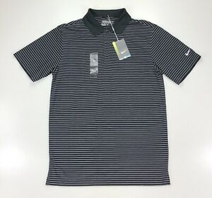 Nike Golf Dri Fit Black Stripe Tour Performance Golf Shirt Size Small $55 $8.50