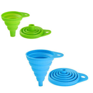 Collapsible Silicone Funnel Foldable Silicon Kitchen Hopper Practical Tool