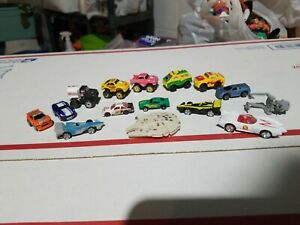 Road Champs 1987 Mano Speed Small Cars Micro Machines Lot Of 15