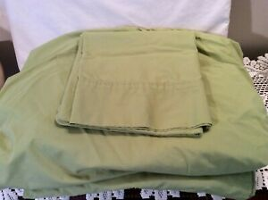 Home Cotton Blend 3-Pc TWIN  Sheet Set in Pea Green, 11.5