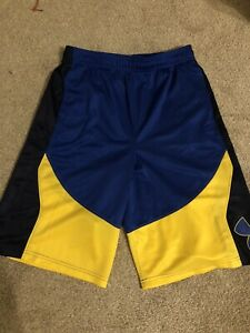 New Under Armour Youth Boys Athletic Royal Blue Yellow Shorts Size X Large Curry $19.99