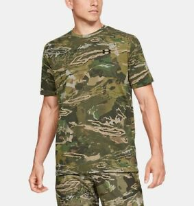 Under Armour Scent Control Forest Camo Loose Fit Shirt 1343240 991 Men's Size XL $21.95