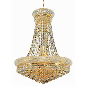ASFOUR CRYSTAL CHANDELIER QUALITY FOYER DINING LIVING ROOM FIXTURES 14 LIGHT 36
