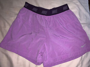 Nike Youth Girls Sz Large Dri Fit Athletic Shorts Purple Excellent Condition! $2.70