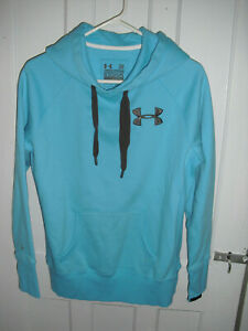 Women's Under Armour Hoodie Charged Cotton Storm Coldgear Blue Size Small $11.99