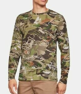 UNDER ARMOUR Early Season HUNTING Forest CAMO Long Sleeve SHIRT Mens Small NEW $28.99