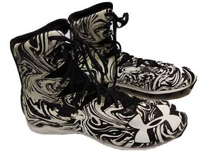 Under Armour Football Cleats Mens Size 13 Black White 1289772 011 Clutch Fit NEW $26.99