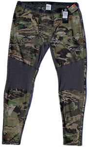 UNDER ARMOUR COLDGEAR HUNT BASE LAYER FOREST CAMO FITTED PANTS MSRP $99.99 NWT $69.00