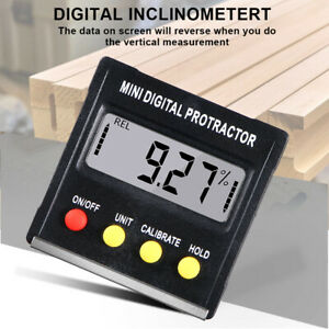 Digital LCD Protractor Gauge Level Box Angle Finder Inclinometer Magnet Meter US $12.58