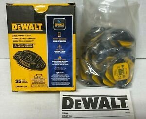 NEW DEWALT DCE041 25 Tool Connect Tag 25 Pack