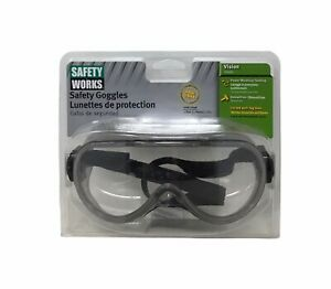 Safety Works Pro Safety Goggles with Anti Fog Clear Lens Gray Tint Frame $19.99
