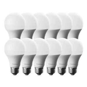 Glolux A19 Dimmable LED Light Bulb 60W = 9W E26 Soft White 3000K (12 pack)