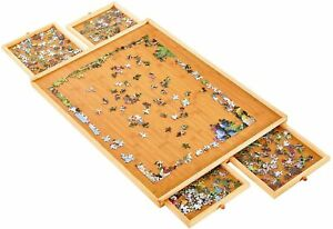 29quot; Standard Puzzle Board Wooden Jigsaw Table W Smooth Work Surface Adults Kids $40.84