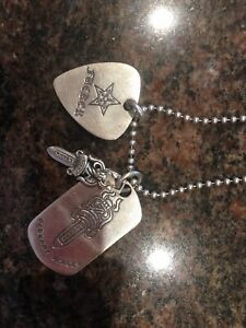 Authentic Chrome Hearts Sterling Dog Tag Necklace with Ball Chain $899.00