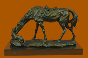Lovely Vintage Austrian Vienna Bronze Horse With Fantastic Cabin Decoration DEAL $279.00