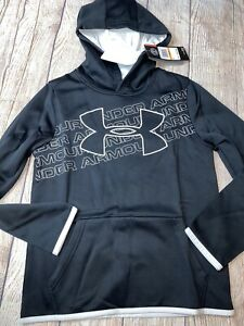 Under Armour Youth Small 8 Black Hoodie Hooded Sweatshirt NEW $24.99
