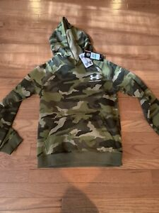 Under Armour Boys Youth Pullover Big Hoodie Sweatshirt Camo Youth Large NWT $32.99