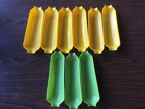 Plastic Corn On The Cob Serving Dish Tray