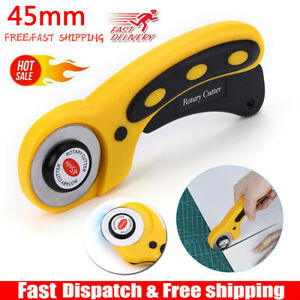 Rotary Cutter With 45mm Blade Sewing Quilters Fabric Leather Cutting Tool Set US $7.59