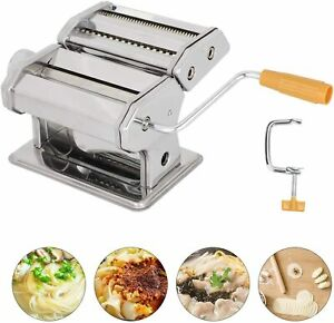 Stainless Steel Fresh Pasta Maker Roller Machine for Spaghetti Noodle Cookies