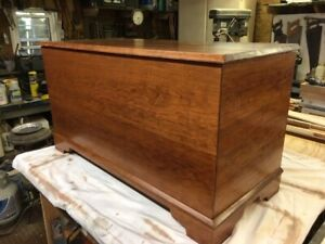 custom made solid cherry wood hope chest