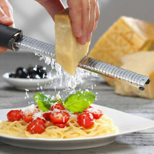 Stainless Steel Cheese Grater Ginger Lemon Shredder Hand Held Flat Tool