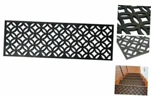 Rubber-Cal Azteca Indoor Outdoor Stair Treads Rubber Step Mats, 9.75 by 29.75-In