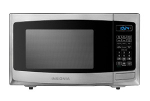 Insignia 0.9 Cu. Ft. Compact Microwave, Stainless steel