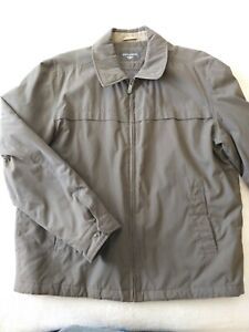 Dockers Mens Large Insulated Brown Jacket Coat Zipper Front