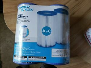 POLYGROUP SUMMER WAVES POOL FILTER CARTRIDGE REPLACEMENT TYPE A /C 2 Pack