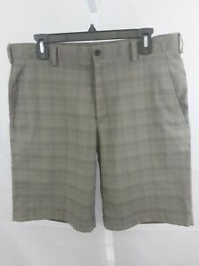 Nike Golf Dri fit Men's Shorts Size 34 Plaid in Browns $5.60