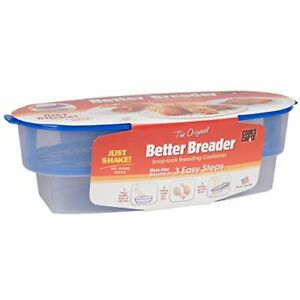 Cook's Choice Original Better Breader Batter Bowl- All-in-One Mess Free Breading